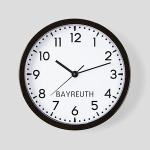 Bayreuth Newsroom Wall Clock