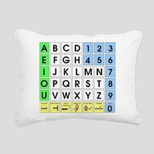AEIOU Spelling Board AAC Rectangular Canvas Pillow