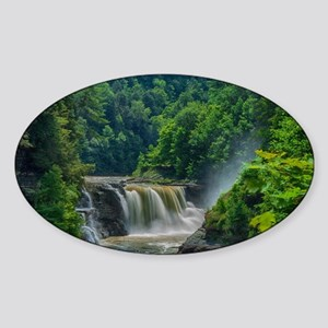 Lower Falls Letchworth Sticker (Oval)