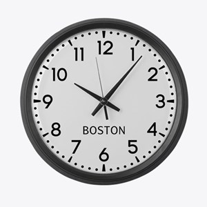 Boston Newsroom Large Wall Clock