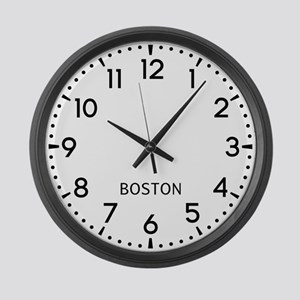 Boston Newsroom Large Wall Clock