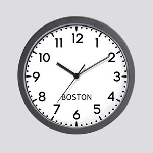 Boston Newsroom Wall Clock
