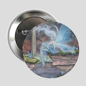 "Blue Ember Fairy Fantasy Art 2.25"" Button"