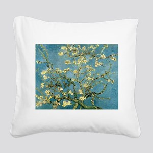 VanGogh Almond Blossoms Square Canvas Pillow