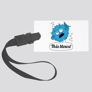 Funny This Blows Design Luggage Tag