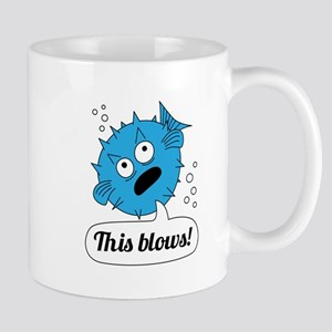 Funny This Blows Design Mugs