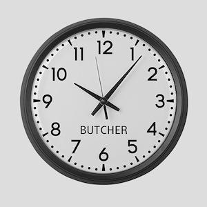 Butcher Newsroom Large Wall Clock