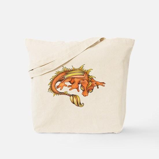 Orange Dragon Tote Bag