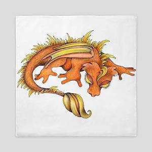 Orange Dragon Queen Duvet