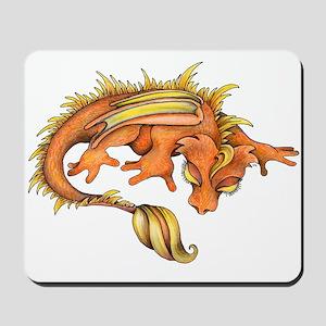 Orange Dragon Mousepad