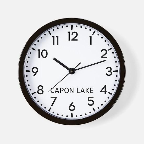 Capon Lake Newsroom Wall Clock