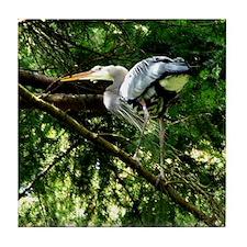 Heron Nesting Tile Coaster