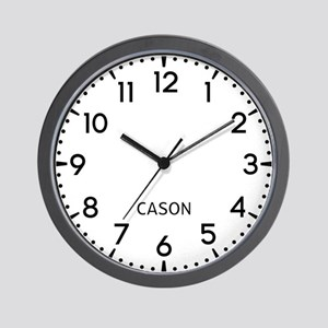 Cason Newsroom Wall Clock