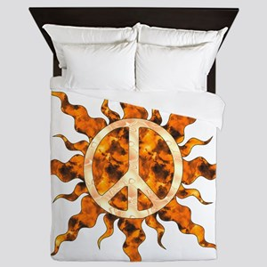 Flaming Peace Sun Queen Duvet