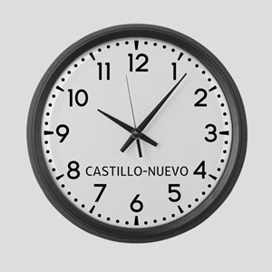 Castillo-Nuevo Newsroom Large Wall Clock