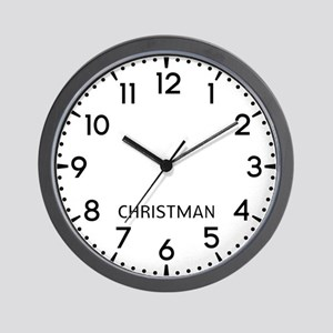 Christman Newsroom Wall Clock