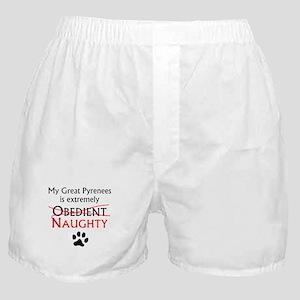Naughty Great Pyrenees Boxer Shorts
