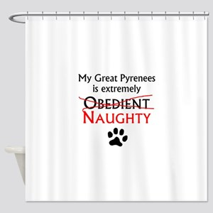 Naughty Great Pyrenees Shower Curtain