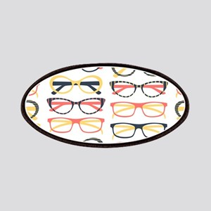 Hipster Glasses Patches