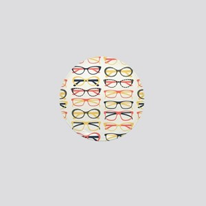 Hipster Glasses Mini Button
