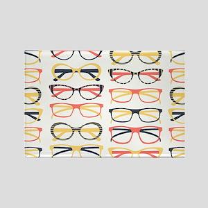 Hipster Glasses Magnets