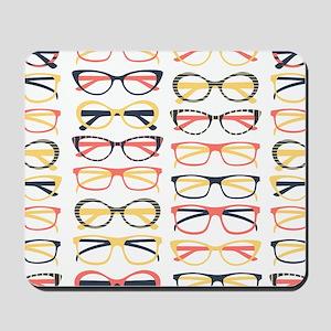 Hipster Glasses Mousepad