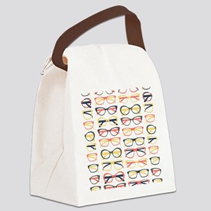 Hipster Glasses Canvas Lunch Bag