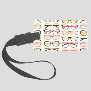 Hipster Glasses Luggage Tag