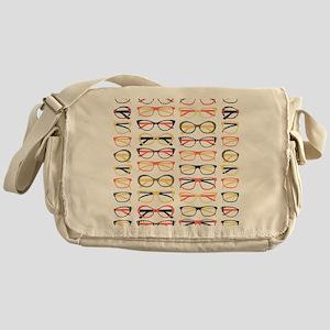 Hipster Glasses Messenger Bag