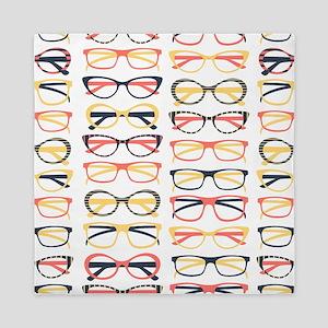 Hipster Glasses Queen Duvet