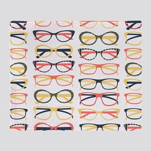 Hipster Glasses Throw Blanket