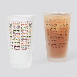 Hipster Glasses Drinking Glass