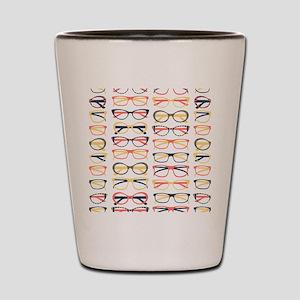 Hipster Glasses Shot Glass