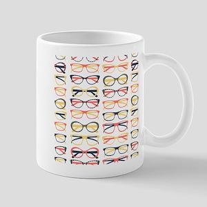 Hipster Glasses Mugs