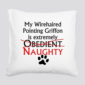 Naughty Wirehaired Pointing Griffon Square Canvas