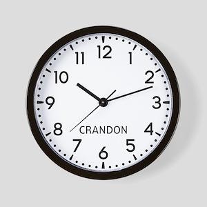 Crandon Newsroom Wall Clock