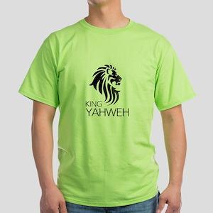King YAHWEH Black Green T-Shirt