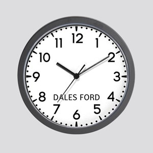 Dales Ford Newsroom Wall Clock