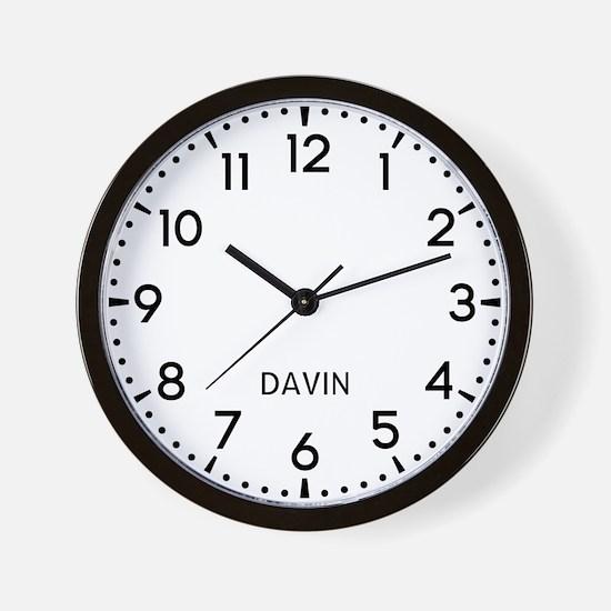 Davin Newsroom Wall Clock