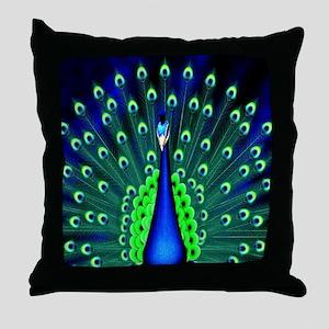 Pretty Peacock Throw Pillow