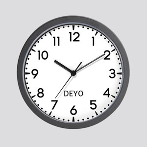 Deyo Newsroom Wall Clock