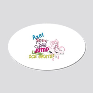 Ice Skating 20x12 Oval Wall Decal