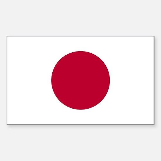 Japan Flag Sticker (Rectangle)