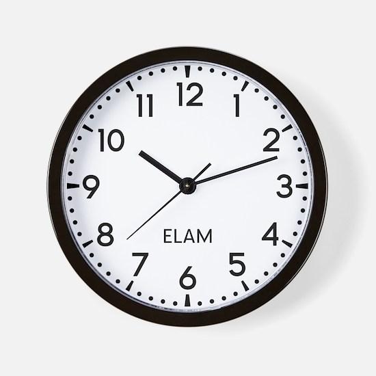 Elam Newsroom Wall Clock
