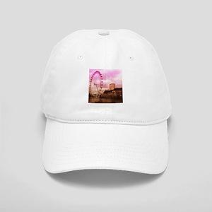 London, pink effect Baseball Cap