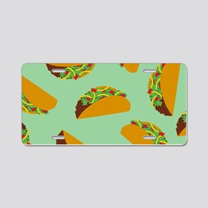 Taco Pattern Aluminum License Plate