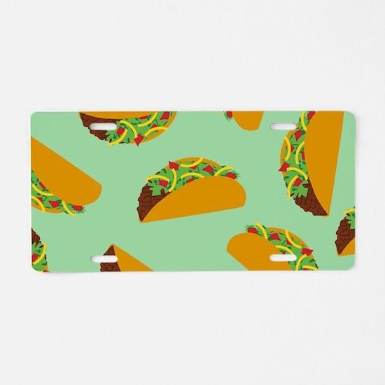 Taco Pattern Aluminum License Plate