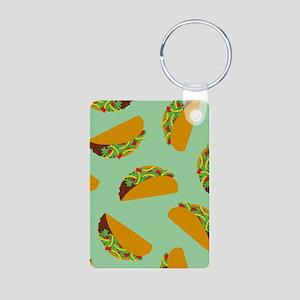 Taco Pattern Keychains