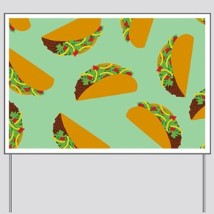 Taco Pattern Yard Sign