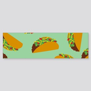 Taco Pattern Bumper Sticker